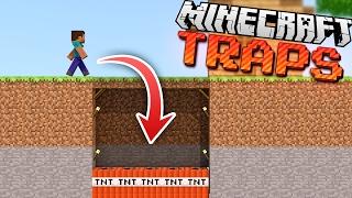 EASY Hidden & Invisible Minecraft TRAPS!