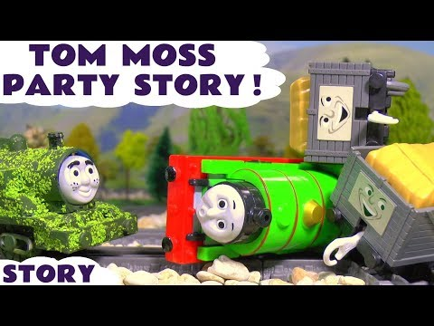Thumbnail: Thomas and Friends Tom Moss Toy Trains Party Prank Accidents with Iron Man Train toys for kids TT4U