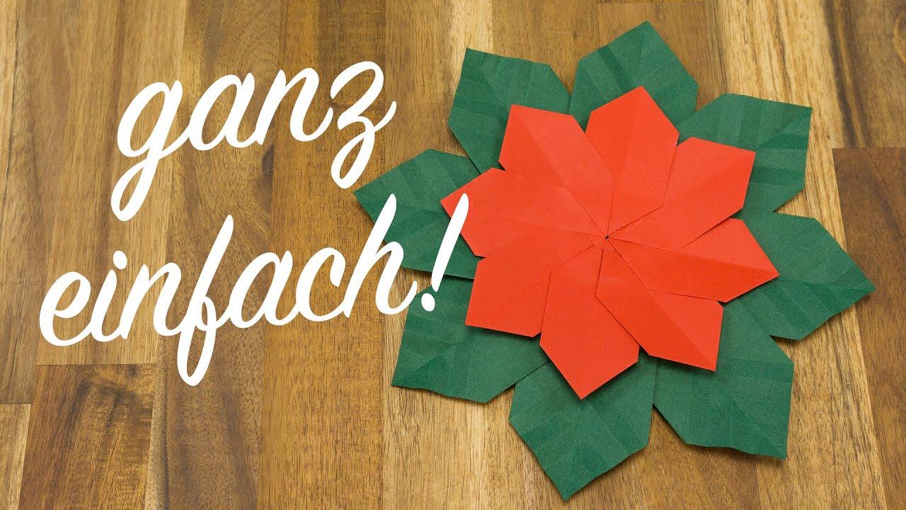 weihnachtsstern falten origami weihnachtsschmuck basteln youtube. Black Bedroom Furniture Sets. Home Design Ideas