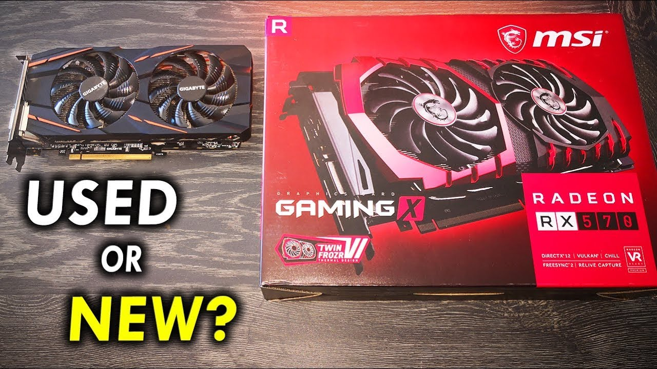 USED Vs  NEW RX 570     How Risky is it Buying Used?