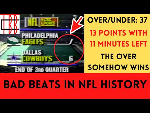 [OC] [Highlight] Inspired by Scott Van Pelt, each week during the offseason, I want to take a look at some of the worst bad beats in NFL history. Today, we're looking at three of the worst ones from the 1990 season, including a crazy 4th quarter between the Eagles and Cowboys