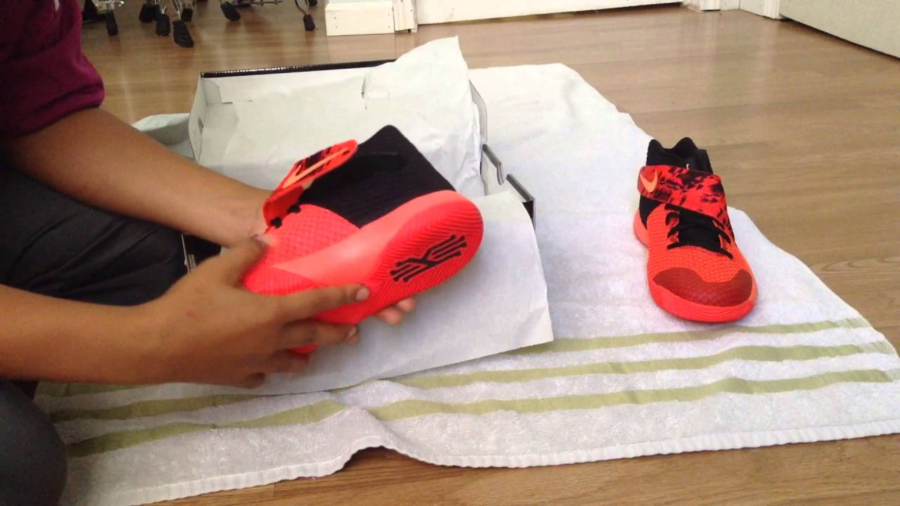 34dccca3380 Review on the Kyrie Irving 2 inferno awesome shoes to get - YouTube