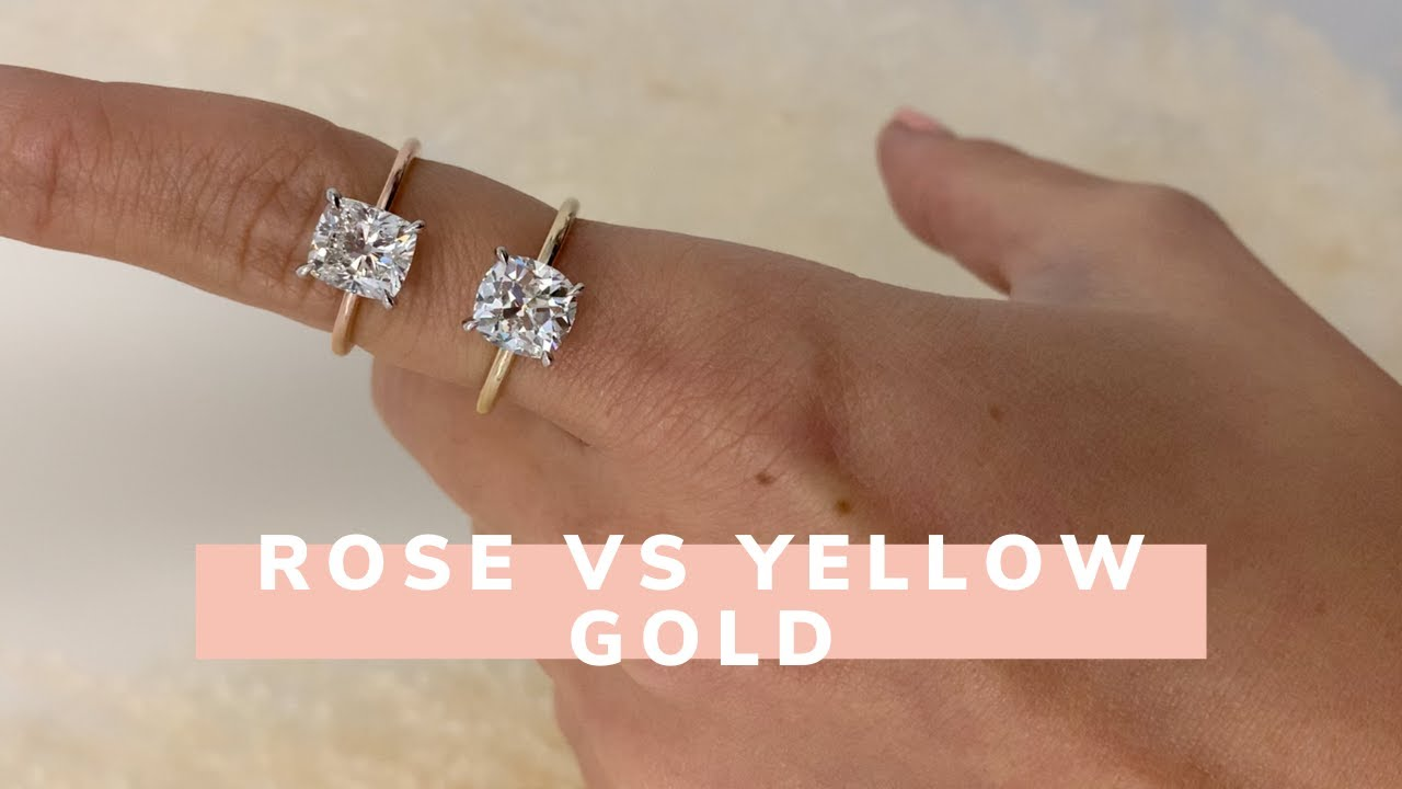 Rose Gold VS Yellow Gold Engagement Rings: IGTV Edition