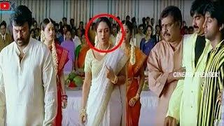 Soundarya & Chiranjeevi Blockbuster Movie Interesting Emotional Scene  | Cinema Theater
