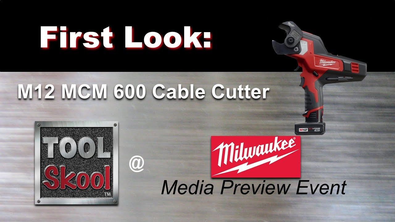 milwaukee m12 logo. milwaukee m12 600 mcm cable cutter - first look tool review youtube logo p