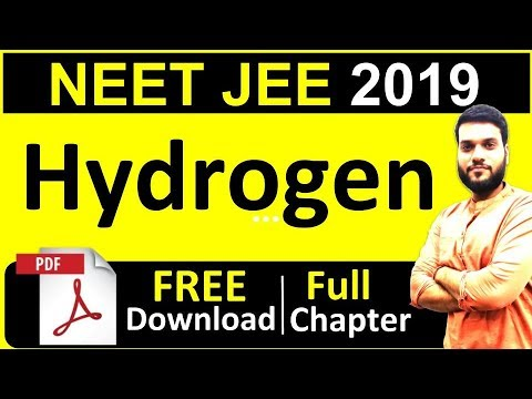 NEET AIIMS JEE | HYDROGEN | Full Chapter in 1 shot + FREE PDF | By Arvind Arora