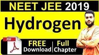 NEET AIIMS JEE   HYDROGEN   Full Chapter in 1 shot + FREE PDF   By Arvind Arora