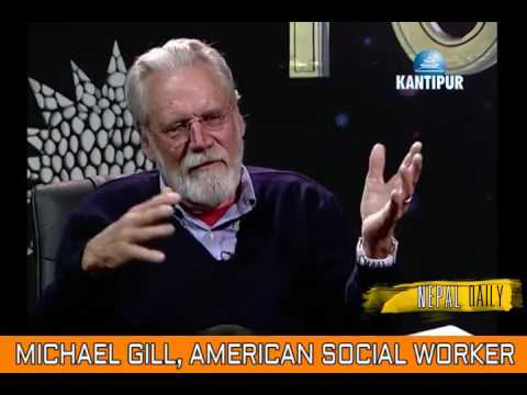 American Social worker Michael Gill is sad about the New Nepal