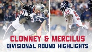 Clowney & Mercilus Explosive Game | Texans vs. Patriots | NFL Divisional Player Highlights