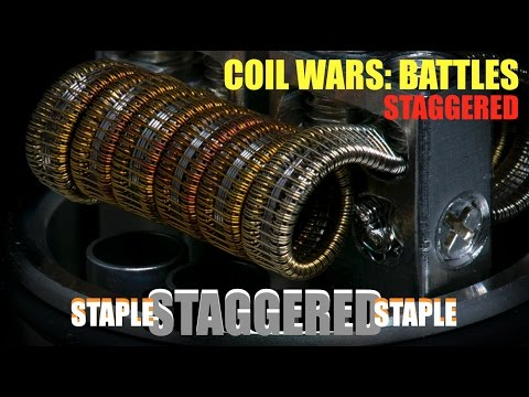 Coil Wars: BATTLES | Staggered Coil Builds | And How to Build a Staple Staggered Staple Coil