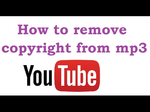 how to remove copyright from mp3 song