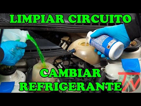 Clean radiator circuit and change coolant