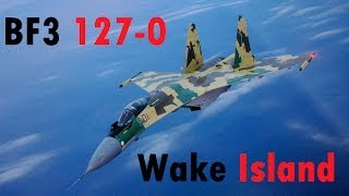 BF3 Perfect Jet Round (127-0) | Wake Island: SU-35 | Conquest HD Gameplay