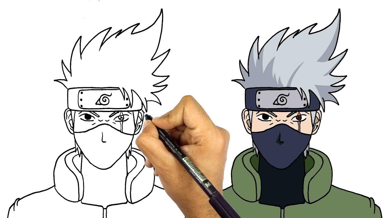 رسم كاكاشي من انمي ناروتو تعليم الرسم الانمي كيف ترسم انمي
