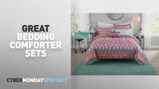 Walmart Top Cyber Monday Bedding Comforter Sets Deals: Mainstays Pink Tribal Bed in a Bag Comforter