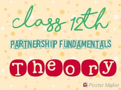 Partnership Fundamental Theory