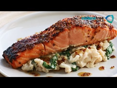 Receta Para Preparar Salmón Crujiente. Receta De Salmón / Seefood Recipe / Receta Con Salmón