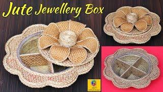 DIY Jewelry Organizer With Jute Rope And Cardboard   Multipurpose Organizer Craft   Jute Craft Idea