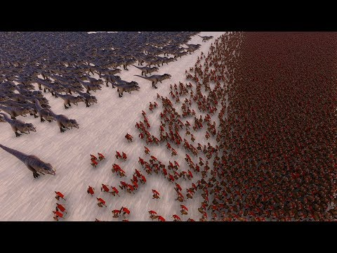 1.000 T-REX vs 30.000 SPARTANS - Ultimate Epic Battle Simulator