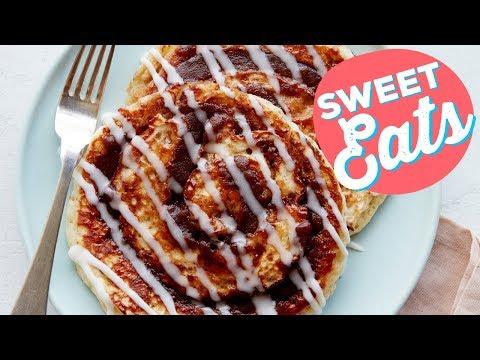 Cinnamon Bun Pancakes | Food Network