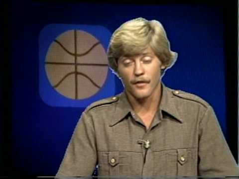 1980: Clay Feeter joined by Kurt Feeter at Guam Cable TV's Channel 6 Sports Desk...