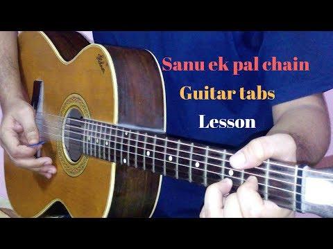 Sanu ek pal chain single string guitar tabs lead lesson tutorial