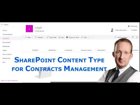 SharePoint Contract Management Content Type