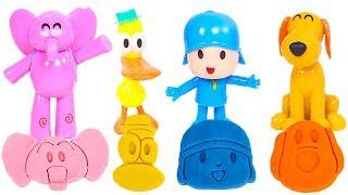 👶 POCOYÓ 🌈 Hacemos figuras de colores de Pocoyo con C...