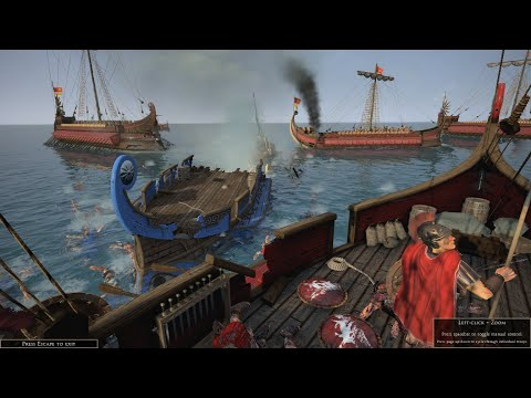 Total War: Rome II - Battle for Aegonio Pelagos - Complete Annihilation of Syracusan Fleet |
