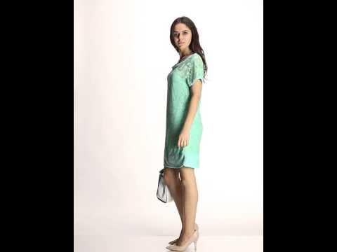 Платье цвета мяты ажурное
