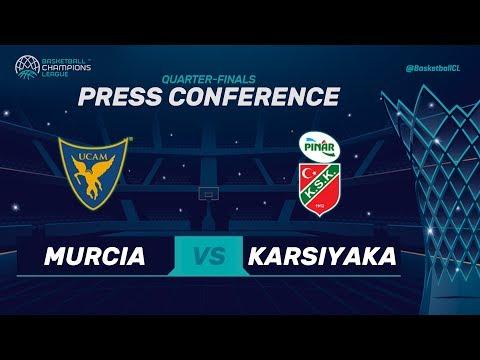 UCAM Murcia v Pinar Karsiyaka - Press Conference - Basketball Champions League 2017