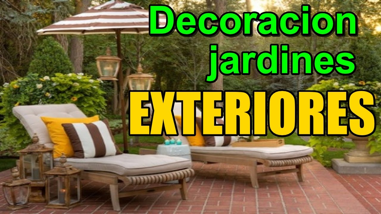 Decoracion de jardines exteriores como decorar jardines for Ideas decoracion jardines exteriores