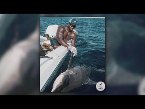 Green Bay Packers linebacker Sam Barrington hooks 400-pound shark