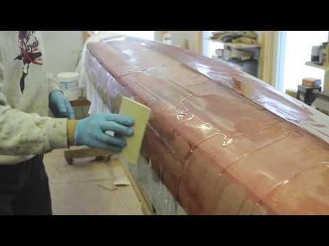Fiberglassing the Petrel Sea Kayak