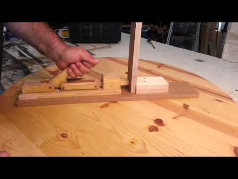 """Woodworking - homemade """"toggle clamps"""""""