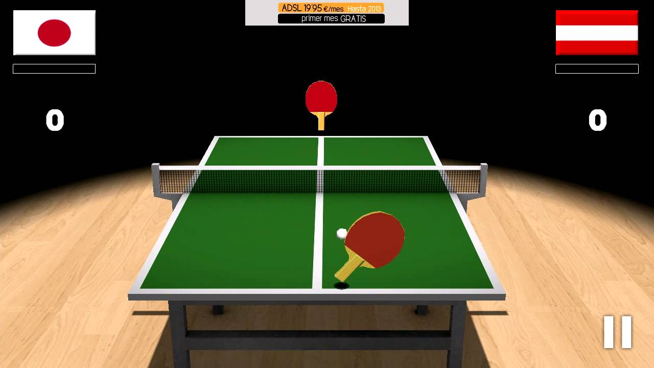 3D Virtual Table Tennis