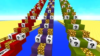 Minecraft 1v1v1 WHITE LUCKY BLOCK STAIRCASE RACE! (Minecraft Mods)
