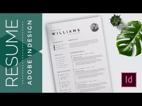 InDesign Tutorial : How to create resume in Adobe InDesign thumbnail
