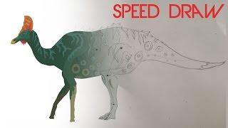 Corythosaurus - Speed Draw on Pivot