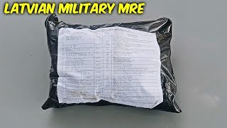 Tasting Latvian Military MRE (Meal Ready to Eat}