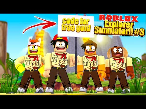 ROBLOX - EXPLORER SIMULATOR #3 - FREE GOLD CODE!!