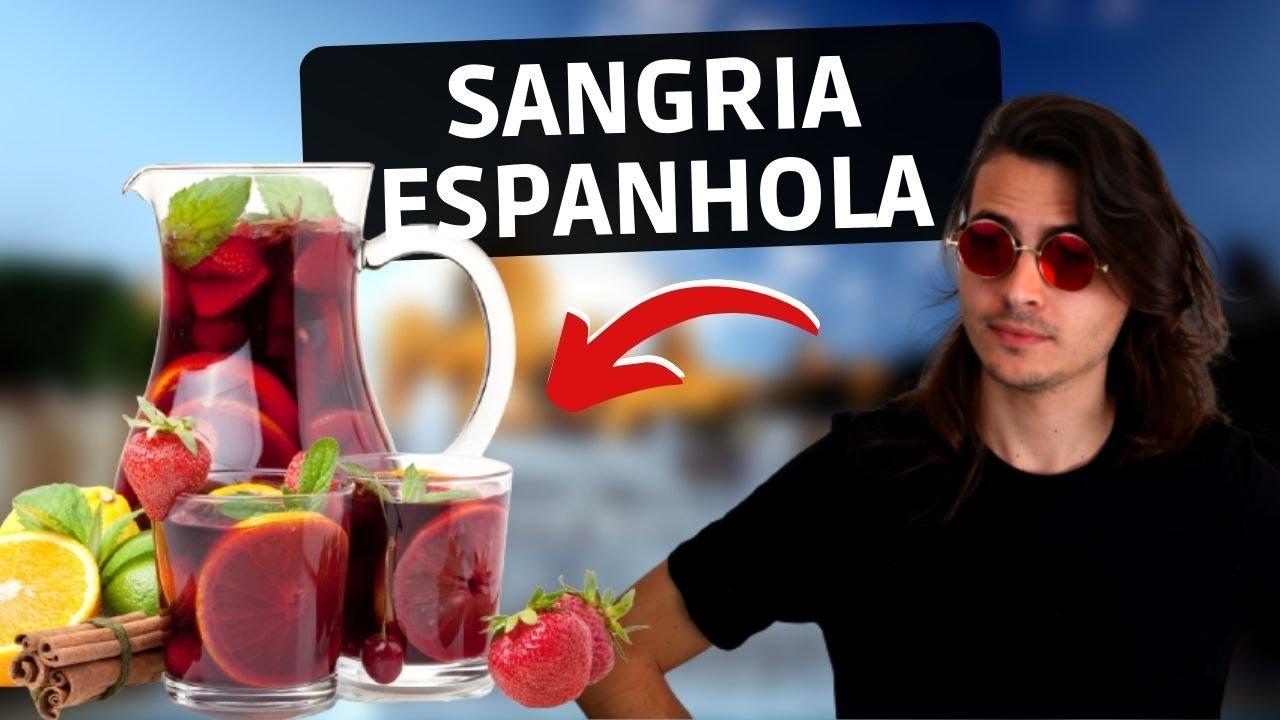 COMO FAZER SANGRIA DE VINHO - Receita de sangria original, espanha
