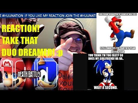 Mario VS Sonic (Nintendo VS Sega) | DEATH BATTLE reaction