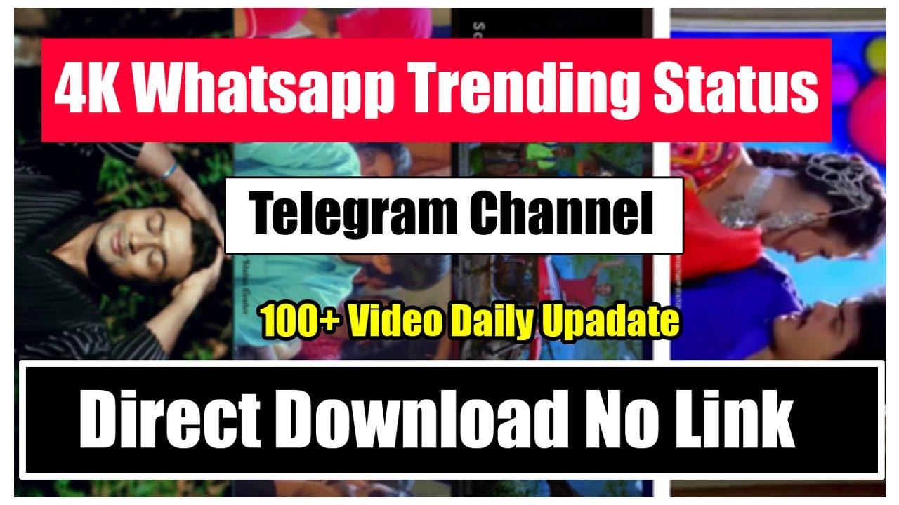 ♥️ Trending Whatsapp Status Telegram Channel 💛 💜 Whatsapp ...