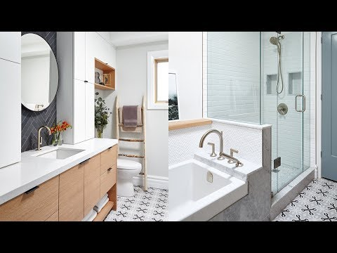 Room Tour: Beautiful Bathroom With Mixed Tile