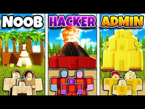 jim dah noob roblox Roblox Noob Vs Hacker Vs Admin Family Base Build Challenge In Island Tribes Youtube