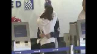 Ariana Grande And Jai Brooks Have A Farewell Make Out Session At JFK Airport