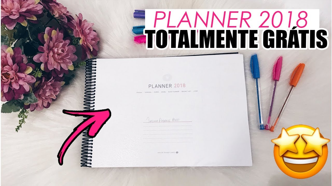 planner 2018 gr tis para imprimir em casa modelo