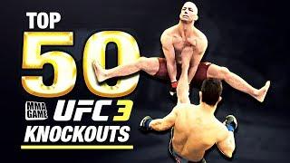 eA SPORTS UFC 3 - TOP 50 UFC 3 KNOCKOUTS - Community KO Video ep. 14