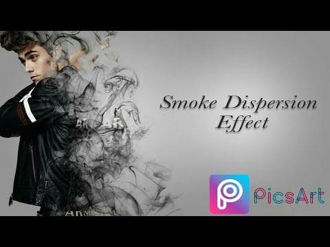 Smoke dispersion effect in Picsart || picsart smoke effect || smoke effect  picsart